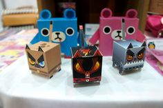 Paper Toy - MAD CAT by HOOKEEAK , via Behance