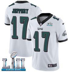 Nike Eagles  17 Alshon Jeffery White Super Bowl LII Men s Stitched NFL  Vapor Untouchable Limited. Nike NflFootball JerseysBasketball  JerseyPhiladelphia ... 8a3a729b6