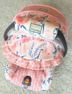 Daydream Blush Floral Custom Infant Car Seat Cover