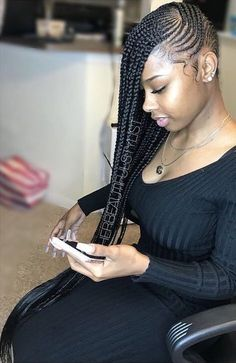 Top 60 All the Rage Looks with Long Box Braids - Hairstyles Trends Box Braids Hairstyles, Lemonade Braids Hairstyles, My Hairstyle, Girl Hairstyles, African Hairstyles, Hairstyles Videos, Hairstyles Pictures, Hairstyles 2016, Protective Hairstyles