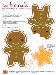 patron petit bonhomme de pain d'épice / Free christmas garland - so cute!