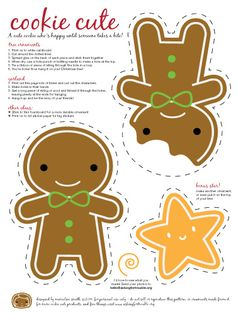 Cookie printables for banner or gift cards