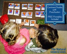The Natural Homeschool: Continent Studies with Preschoolers (FREE Printables and GIVEAWAY Included)