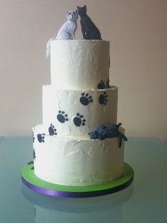 Beautiful cat wedding cake (unknown source)
