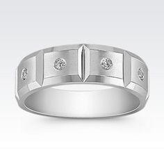 Diamond Geometric Men's Ring
