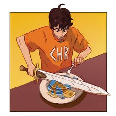 """""""in honor of pjo coming back, here is the only percy I've ever drawn"""" Percy Jackson Fandom, Arte Percy Jackson, Dibujos Percy Jackson, Percy Jackson Characters, Percy Jackson Quotes, Percy Jackson Books, Percy Jackson Fan Art Funny, Percy Jackson Annabeth Chase, Percabeth"""