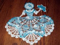 Miss Belle Crinoline Girl Doily