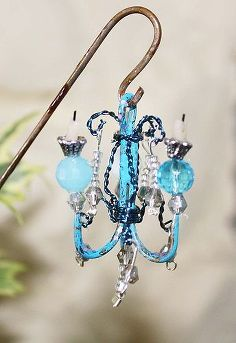 fairy garden shabby chandelier, crafts, gardening, outdoor living