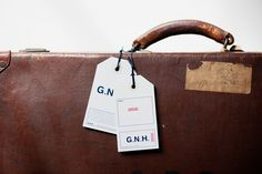 Here Design|G.N.H. Hotel Price Tag Design, Swing Tags, Brand It, Identity Design, Logo Branding, Logos, Hermes Kelly, Design Projects, Louis Vuitton Damier