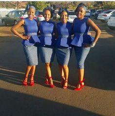 amazing shweshwe dresses style for trends 2017 amazing shweshwe dresses style for trends 2017 African Bridesmaid Dresses, African Wedding Attire, African Print Dresses, African Wear, African Attire, African Fashion Dresses, African Women, African Dress, African Clothes
