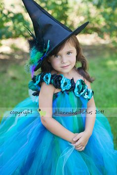 Custom Peacock Princess Witch Dress and Matching by HannahsTutus, $100.00