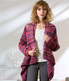 Free knitting pattern for Drape Front Cardigan