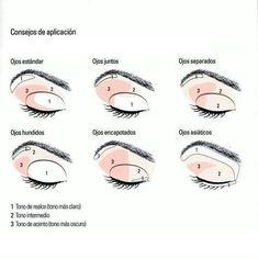 Eye make-up according to shape and contour. Simple Eye Makeup, Love Makeup, Makeup Inspo, Natural Makeup, Makeup Inspiration, Makeup Tips, Makeup Looks, Makeup Ideas, Skin Makeup