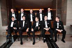 style me pretty - real wedding - usa - north carolina - charlotte wedding - the mint museum uptown - groom & groomsmen