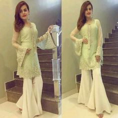 How Gorgeous Sumbul Iqbal Khan Wearing by in Eid Ul Fiter ✨ Pakistani Wedding Outfits, Pakistani Dresses, Indian Dresses, Indian Outfits, Simple Dresses, Casual Dresses, Fashion Dresses, Girls Dresses, Indian Designer Outfits