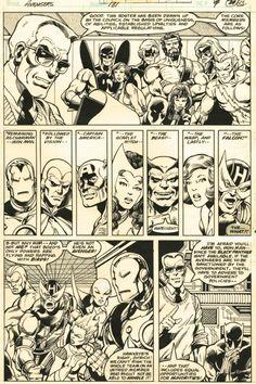 The Marvel Age of Comics johnbyrnedraws: Avengers page 15 by John Byrne & Gene… Comic Book Layout, Comic Book Pages, Comic Page, Comic Book Artists, Comic Artist, Marvel Comic Books, Marvel Art, Marvel Characters, Comic Books Art
