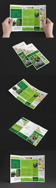 Gardening Service Brochure Template. Brochure Templates
