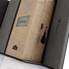 Materials:  Outer box - paper wrapped with rigid board external case with velvet liner.  Wooden box - MDF with Ash wood veneer, high gloss finish, tumbled PU leather liner with ribbons.   Markets: Singapore and China