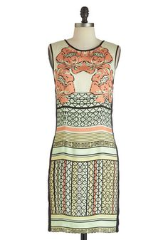 Sketching Up Dress: After a couple of busy weeks  youre excited to finally have a bit of free time to work in your sketch pad. With your supplies sprawled out around you  you settl…    #1960s #60s #Retro #Vintage #Cream, #ModCloth, #SketchingUpDress