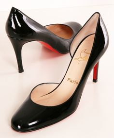 Black Patent Louboutin pumps- Classic and elegant Louboutins are the perfect basic for any girl's closet. Perfect for the office or for a night on the town