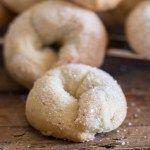 upclose of Italian wine cookies