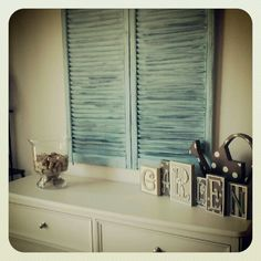 Easy to refinish old shutters!