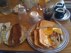 with extra meat West Yellowstone Restaurants, West Yellowstone Montana, Running Bear, Cinnamon Roll Pancakes, The Pancake House, Fast Food Menu, Eat Breakfast, Cooking Recipes, Wyoming