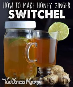 """Switchel: 2 tablespoons unfiltered apple cider vinegar with """"the mother"""" 3 tablespoons raw honey or blackstrap molasses (or more to taste) 2-inch piece of fresh ginger root, peeled and finely minced 4 cups of water (or 2 cups water and 2 cups seltzer water if using) ½ of a fresh lime, juice and zest Refrigerate overnight and serve over ice."""