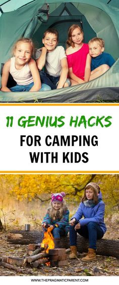 Super Genius Camping Tips to Make Camping with Kids Fun, Easy and Stress-Free! Tips to Organizing your Camping Trip, Setting up a Kid-Friendly Campsite, What to Bring When You Camp with Kids and How to Prepare. Campsite Safety When You have Kids Camping & Kid-Friendly Camping Food Hacks. Have a Memorable Family Camping Experience That's Fun & Stress-Free For Everyone! #campingwithkids #toddlercamping #familycamping #takingkidscamping