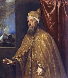 Tiziano, Portrait of Doge Francesco Venier (Doge of Venice from 1554 to 1556).