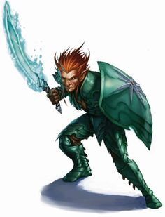 """m Gnome Fighter Hvy Armor Shield Magic Sword Dandd One bad ass little dude w """"living"""" water scimitar Cut by water sheesh New Fantasy, Fantasy Rpg, Medieval Fantasy, Dark Fantasy, Dungeons And Dragons Characters, D D Characters, Fantasy Characters, Fantasy Portraits, Character Portraits"""