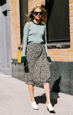 White shoes at fashion week.