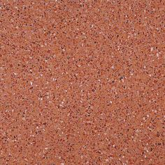L-426E. Formato: 40x40 cm. Composición: mármol triturado de color rojo i beige y fondo de color coral. #terrazo #terrazzo #pavimento