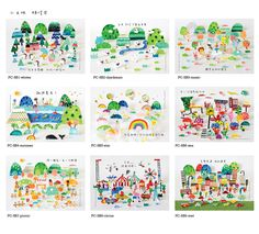 https://flic.kr/p/nvEHey | mini land postcards | www.allthings.bigcartel.com/product/mini-land-postcard-set