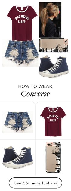 """Untitled #260"" by robin-987 on Polyvore featuring Wrangler, Casetify and Converse"