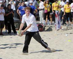 Prince Harry Photos - Prince Harry attends a game of beach volleyball in Flamengo Park, Rio de Janeiro, Brazil - Zimbio
