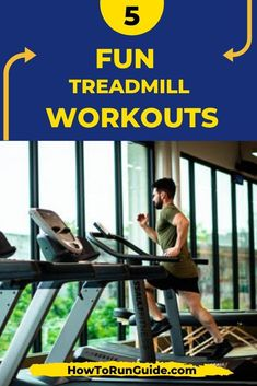 5 Fun Treadmill Workouts for beginners and advanced runners. Find a fun treadmill workout and enjoy running inside! Running On Treadmill, Treadmill Workouts, Running Workouts, Running Tips, Walking Workouts, Running For Beginners, How To Start Running, How To Run Faster, Workout For Beginners