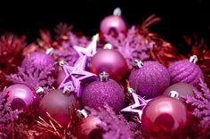 Background of pink Christmas decorations-6334 | Stockarch