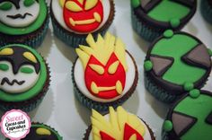 Sweet Cucas and Cupcakes by Rosângela Rolim: Mini Cupcakes Ben 10