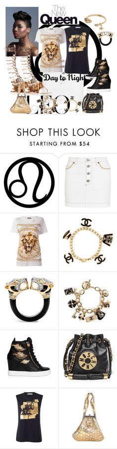 """""""A Queen and Day and Night"""" by sotrue-creatoure-of-stylee ❤ liked on Polyvore featuring Sonia Rykiel, Balmain, Chanel, John Hardy, Giuseppe Zanotti, Moschino and Roberto Cavalli"""