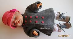 Projekt Saseline ~ Det er midt i april 2020 Knitting Dolls Clothes, Knitted Dolls, Doll Clothes, Free Knitting, Knitting Patterns, Baby Born Clothes, Stuffed Toys Patterns, Doll Toys, Crochet Hats