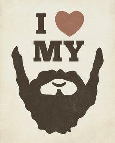 Arte me encanta la barba barba 8 x 10 impresión del por LuciusArt