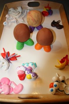 potato head playdough - combining two classic kids' activities