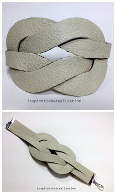 DIY Easy Hermès Inspired Faux Knot Cuff Tutorial from inspiration & realisation here. Based on a white leather Hermès belt. Really easy to follow tutorial by Donatella. Seriously, inspiration & realisation is one of the best DIY fashion/jewelry blogs...