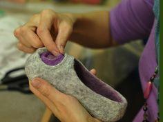 Wet felting - slippers