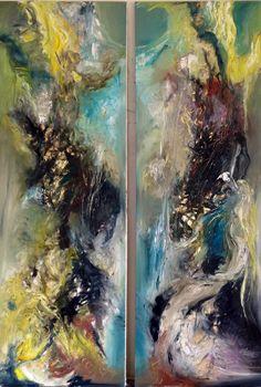 #Abstractoil on canvas# by#Britt Boutros Ghali#www.brittbg.com