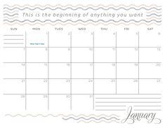 Download Inspirational January 2018 Calendar