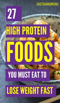 Protein foods are one of the most important macronutrients you can eat. In addition it's one of the best weight loss foods. Protein foods are one of the most important macronutrients you can eat. In addition it's one of the best weight loss foods. Lose Stomach Fat Fast, Lose Weight Fast Diet, Best Weight Loss Foods, Weight Loss Drinks, Lose Belly, Best High Protein Foods, High Protein Recipes, Vegetable Protein, Fat Loss Diet