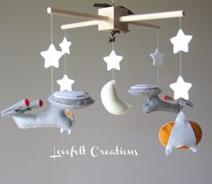 Baby Mobile - Star Trek Mobile - Space ship mobile. $100.00, via Etsy.