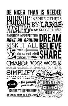 Family Manifesto Typography Black and White Art Print by BCoArt